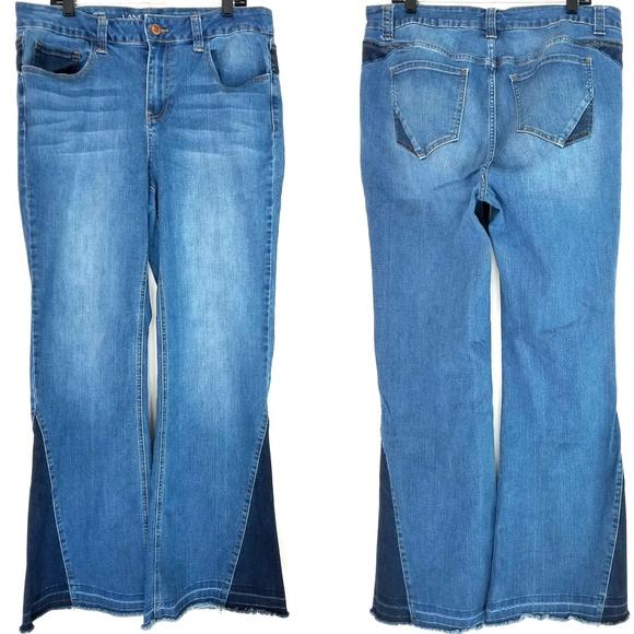 2d49ff1c21d Lane Bryant Denim - 18 Lane Bryant Mid Rise Flare Jeans - Bell Bottoms